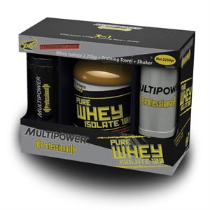 Multipower Whey Protein Isolate 100 2250 Gram + Shaker + Havlu