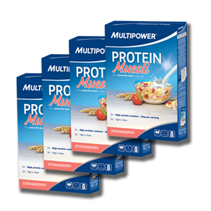 Multipower Protein Müsli 400 Gr. 4 Paket Bir Arada