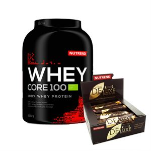 Nutrend Whey Core 2250 Gram + Nutrend Deluxe Protein Bar 12 Adet