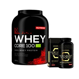 Nutrend Whey Core 2250 Gram + Nutrend Amino 10.000 100 tablet