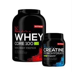 Nutrend Whey Core 100 2200 Gr + Nutrend Creapure Creatine 500 Gr