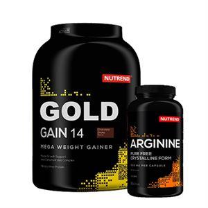 Nutrend Gold Gain 14 3000 Gr + Arginine 120 Kapsül