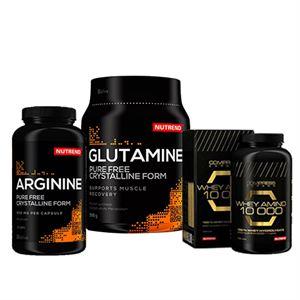 Nutrend Whey Amino 10.000 + Arginin 120 Kapsül + Glutamine 300 Gr