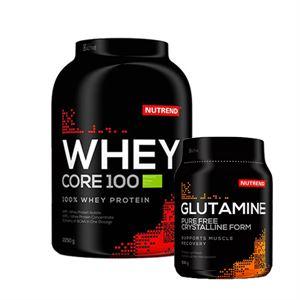 Nutrend Whey Core 2250 Gram + Nutrend Glutamine 300 Gram