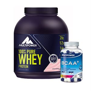 Multipower Whey Protein %100 Pure 2000 Gr + Multipower BCAA 102 Tablet