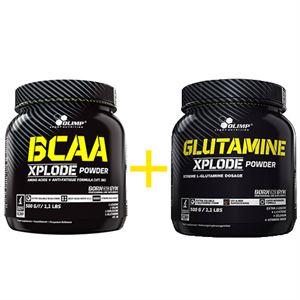 Olimp BCAA Xplode 500 Gr + Olimp Glutamine Xplode 500 Gr