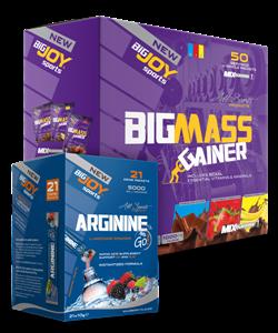 BIGJOY BigMass Gainer 5000 gr + Arginine Go 21 Paket