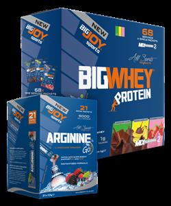 BIGJOY BigWhey Protein 68 Servis + Arginine Go 21 Paket