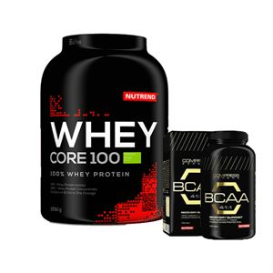 Nutrend Whey Core 2250 Gram + Nutrend BCAA 100 tablet