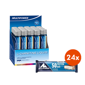 Multipower L-Carnitine Liquid 1800 Mg + Multipower %50 Protein Bar 24 Adet